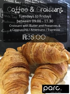 Coffee and Croissant Special at parc
