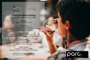 Kaapzicht & Meander Food and Wine Pairing at parc
